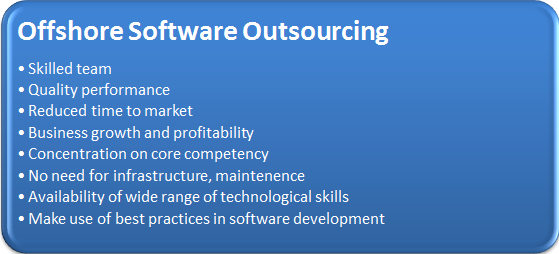 offshore software outsourcing